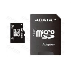 ADATA Memóriakártya MicroSDHC 8GB + Adapter CLASS 4
