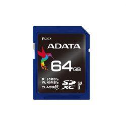 ADATA Memóriakártya SDXC 64GB Class 10 UHS-I U3 Premier Pro