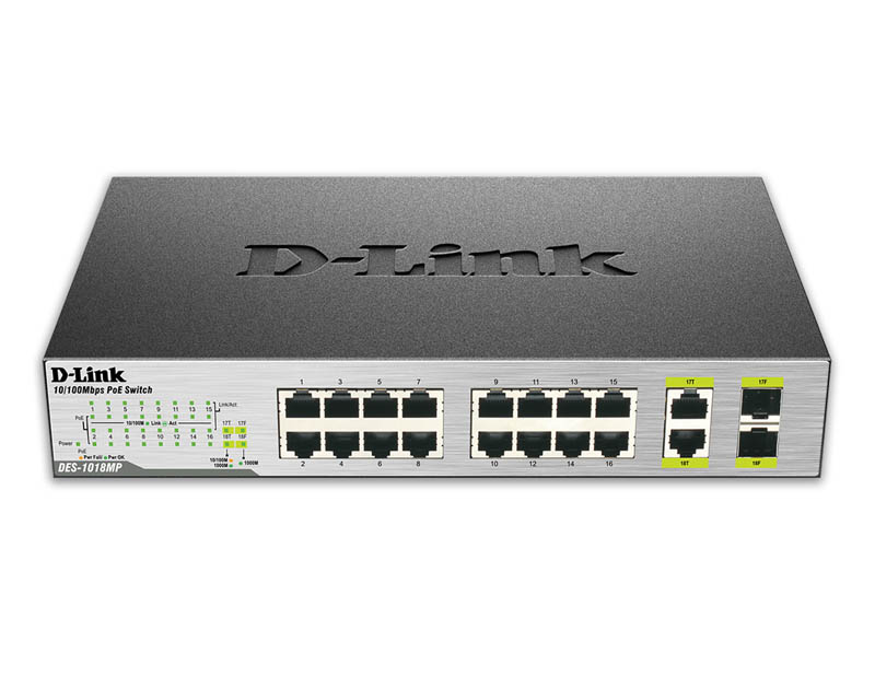 D-Link DES-1018MP PoE Switch