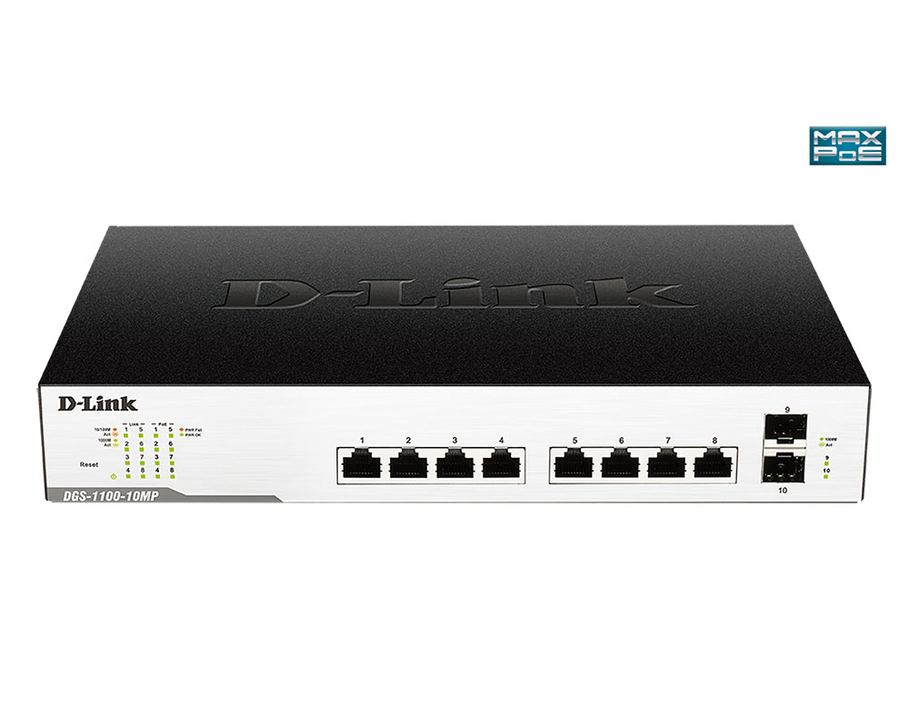 D-Link DGS-1100-10MP PoE switch