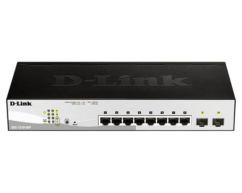 D-Link DGS-1210-08P PoE switch