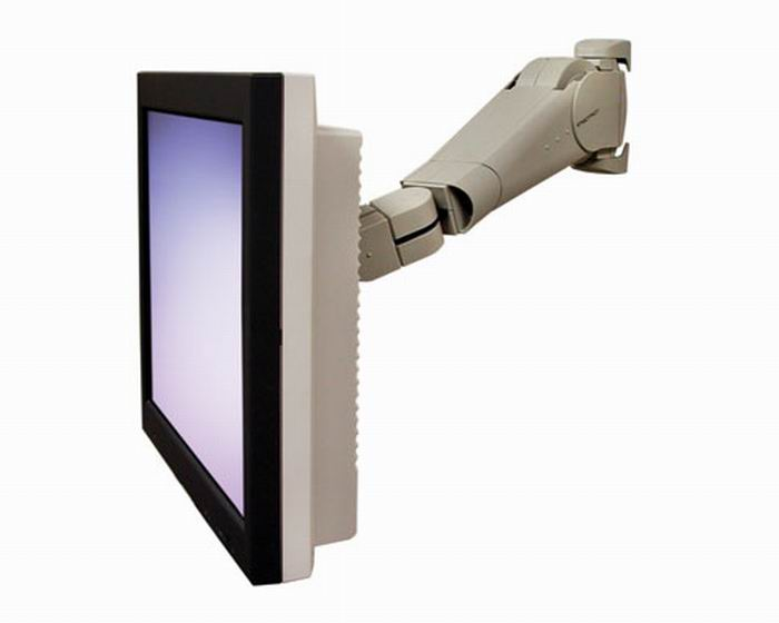 Ergotron 400 Series Wall Monitor Arm grey monitor kar