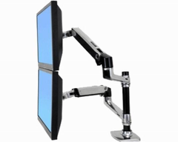 Ergotron LX Dual Stacking asztali LCD monitor kar