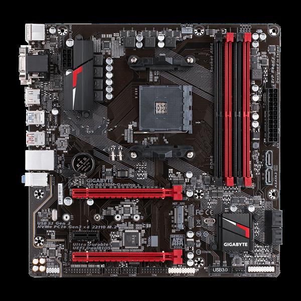 GIGABYTE Alaplap AM4 AB350M-GAMING 3 AMD M350