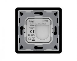 Heatit Z-Push Button 4 Fekete Z-wave okos fali kapcsoló