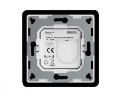Heatit Z-Push Button 8 Fekete Z-wave okos fali kapcsoló