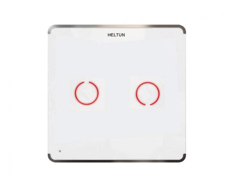 Heltun Touch Panel Switch Duo Fehér-ezüst okos fali kapcsoló HE-TPS02-SW