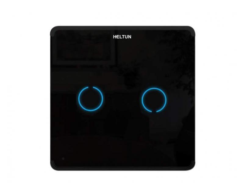 Heltun Touch Panel Switch Duo Fekete-fekete okos fali kapcsoló HE-TPS02-GKK