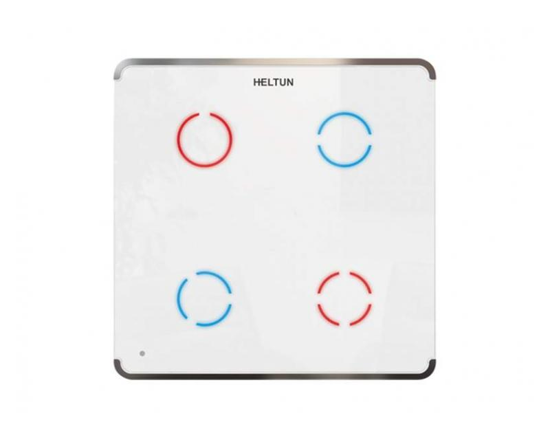 Heltun Touch Panel Switch Quarto Fehér-ezüst okos fali kapcsoló HE-TPS04-SW