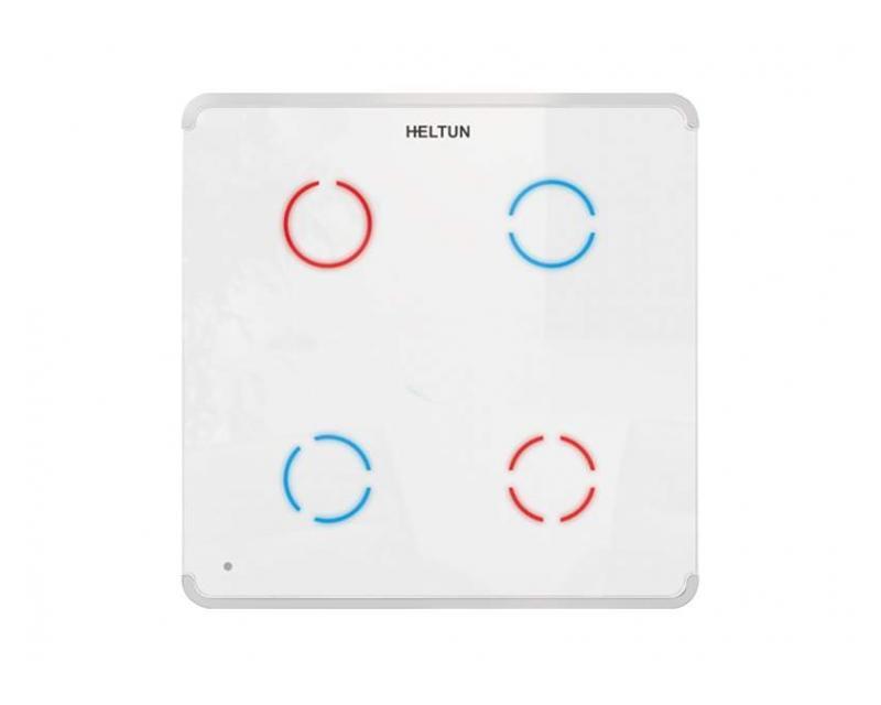 Heltun Touch Panel Switch Quarto Fehér-fehér okos fali kapcsoló HE-TPS04-WW