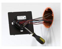 Heltun Touch Panel Switch Quarto Fekete-ezüst okos fali kapcsoló HE-TPS04-SK