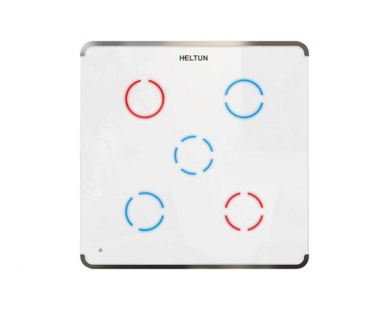 Heltun Touch Panel Switch Quinto Fehér-ezüst okos fali kapcsoló HE-TPS05-SW
