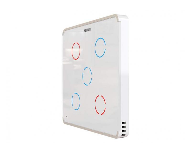 Heltun Touch Panel Switch Quinto Fehér-fehér okos fali kapcsoló HE-TPS05-WW