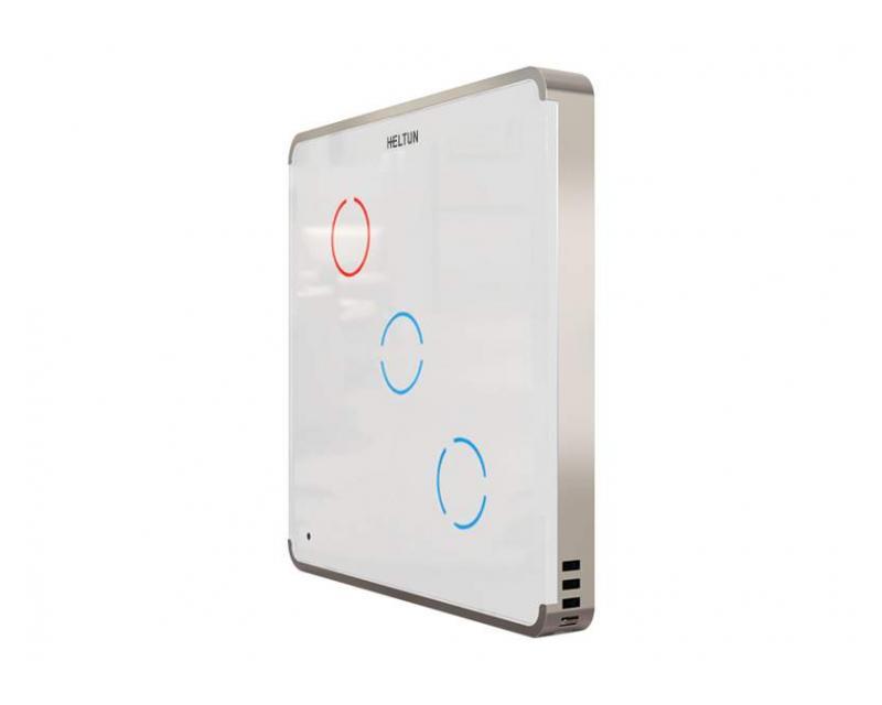 Heltun Touch Panel Switch Trio Fehér-ezüst okos fali kapcsoló HE-TPS03-SW