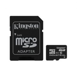 KINGSTON Memóriakártya MicroSDHC 8GB CLASS 10 UHS-I Industrial Temp + Adapter