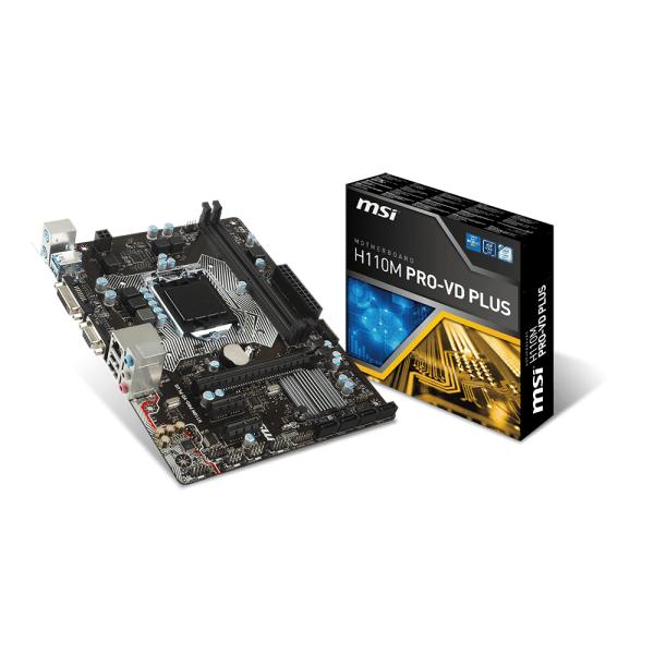 MSI Alaplap S1151 H110M PRO-VD PLUS Intel H110