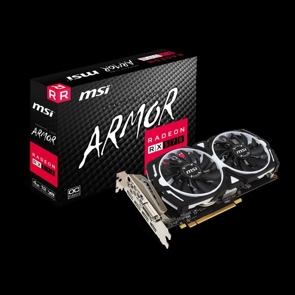 MSI Videokártya PCI-Ex16x AMD RX 570 ARMOR 4GB DDR5