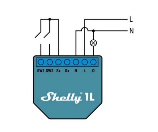 Shelly 1L Wi-Fi-s okosrelé