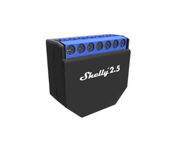 Shelly 2.5 kétáramkörös Wi-Fi-s okosrelé