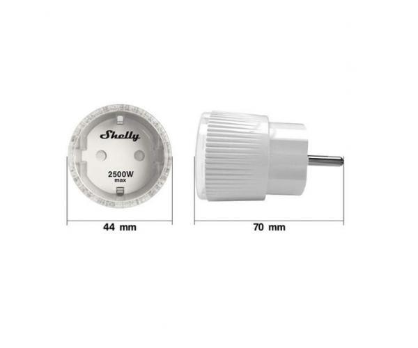 Shelly Plug S WiFi-s okoskonnektor